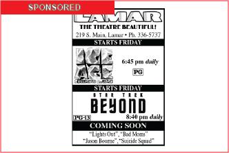 Lamar Theatre Ad - August 12, 2016
