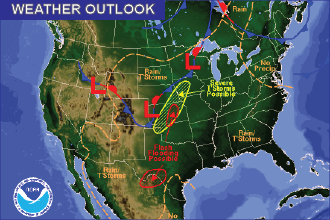 Weather Outlook - August 19, 2016