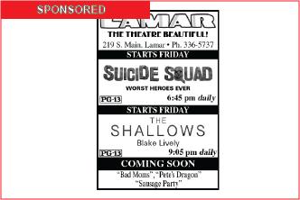 Lamar Theatre Ad - August 26, 2016