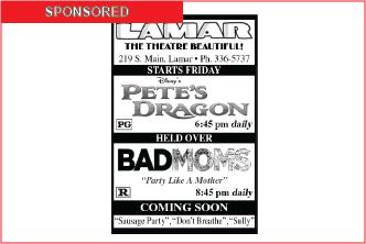 Lamar Theatre Ad - September 9, 2016
