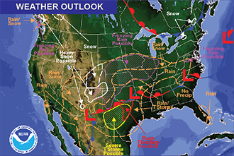 Weather Outlook - January 15, 2017