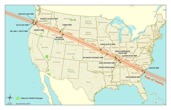 MAP - Eclipse Map - Liz Cruz USFWS