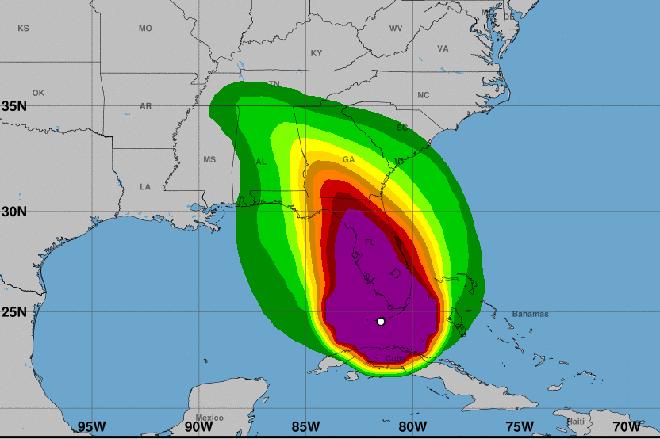 MAP - Hurricane Irma - September 10, 2017