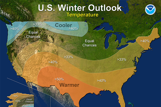 NOAA's winter forecast is in, and it looks frozen for us