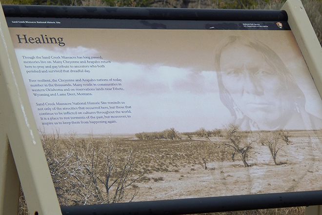 PICT - Sand Creek Healing Sign