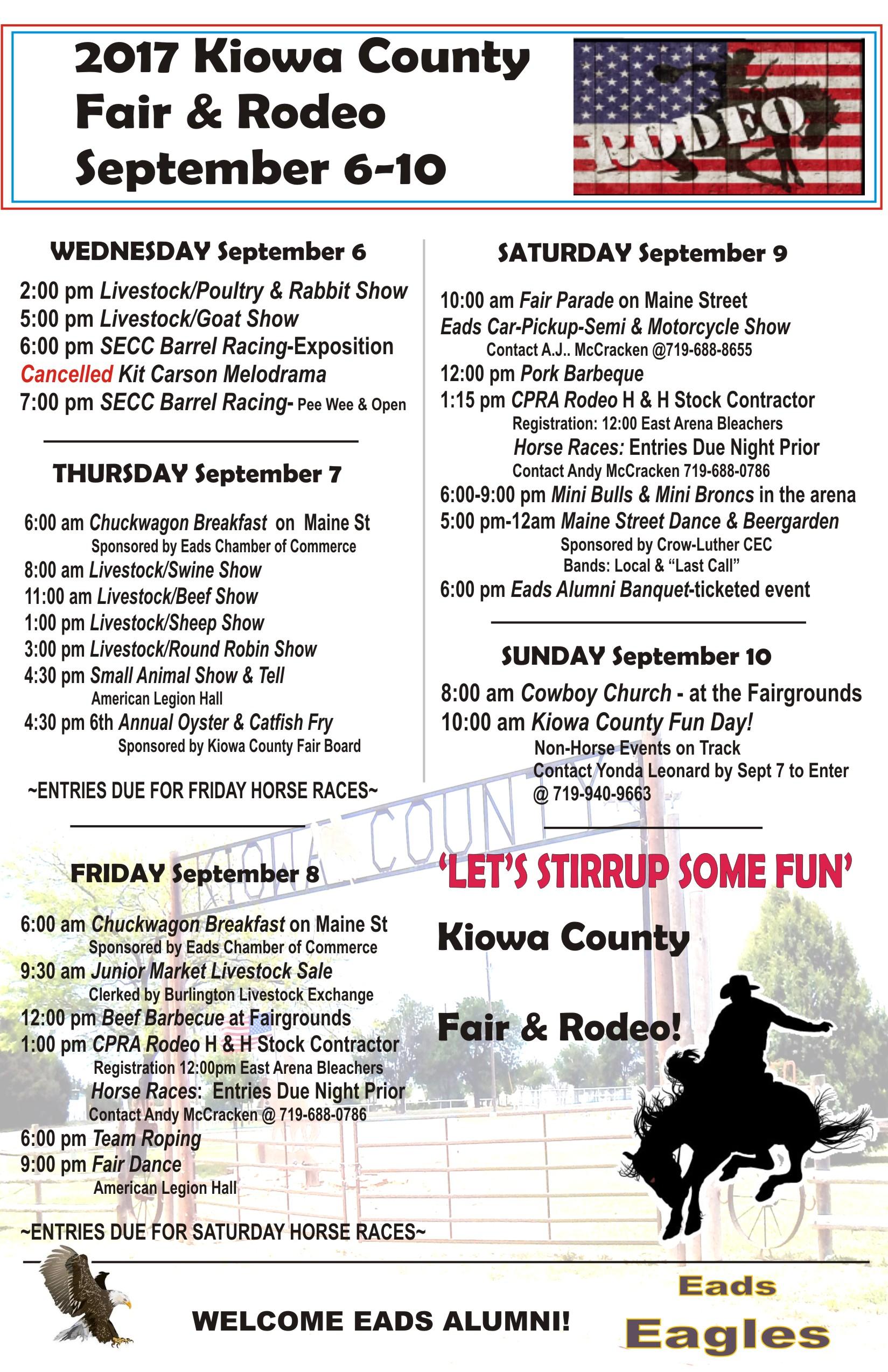 ADV - 2017 Kiowa County Fair Events
