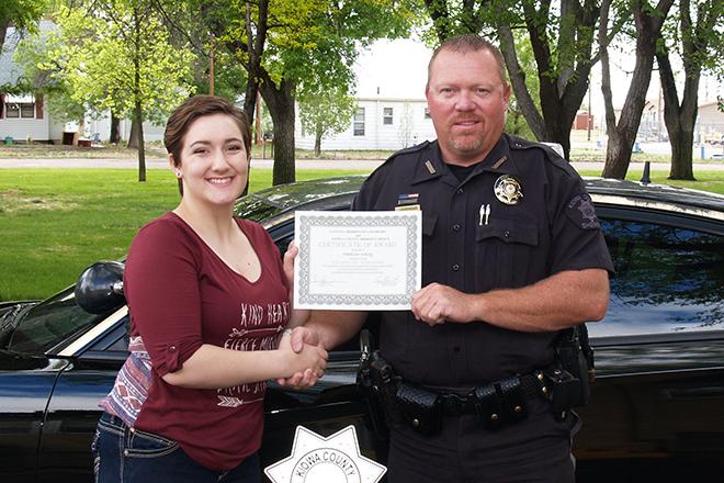 PICT Madison Kelley KC Sheriff Scholarship