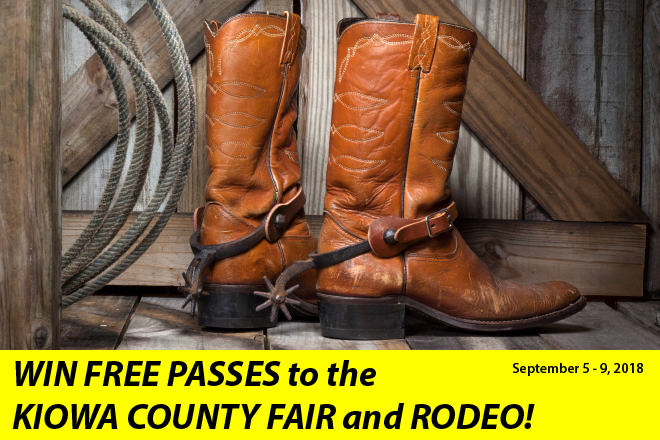 PROMO 660 x 440 Win free passes to the 2018 Kiowa County Fair and Rodeo