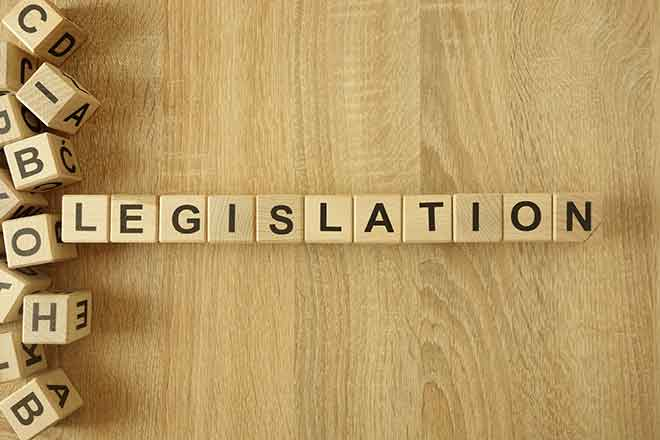 PROMO 64J1 Government - Words Legislation Bill Law - iStock - Piotrekswat