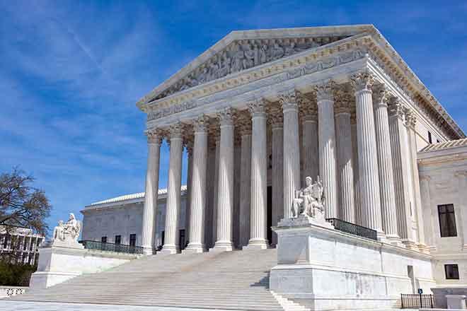 PROMO 64J1 Law - Supreme Court Building Washington DC law justice - iStock - sframephoto