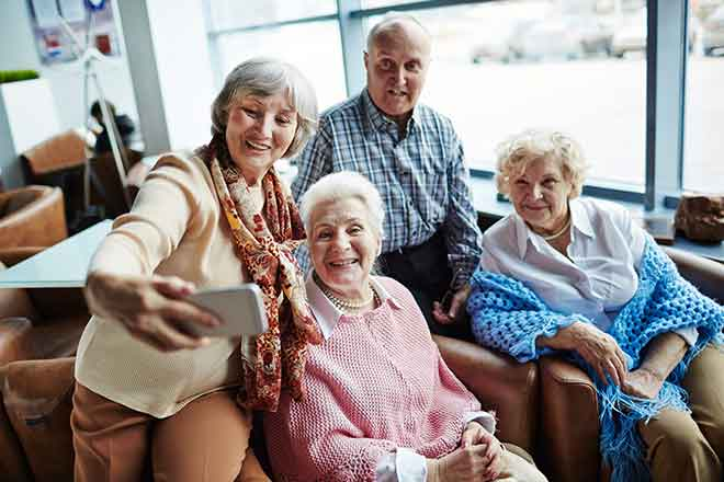 PROMO Miscellaneous - Senior Citizens Group Selfie - iStock