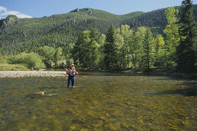 PROMO Miscellaneous - Woman Stream Mountain Fly Fishing - USFWS