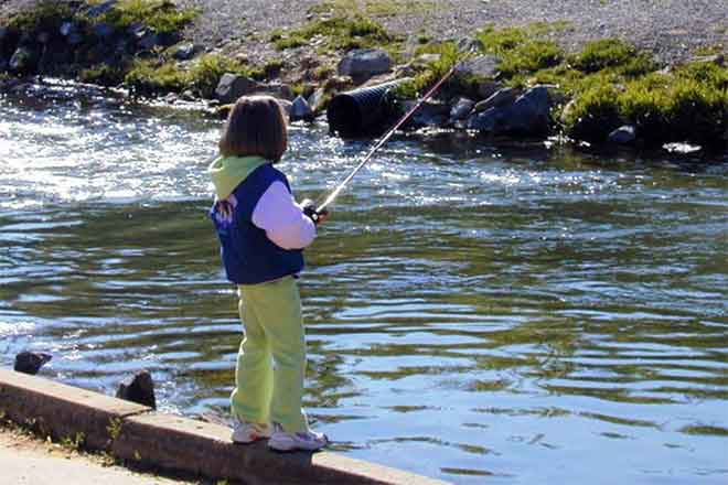 PROMO Outdoors - Child Fishing Stream - Wikimedia