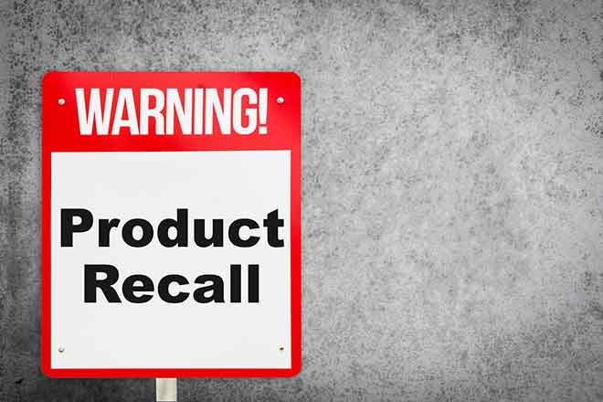 PROMO Recall - Warning Product Recall Sign - iStock