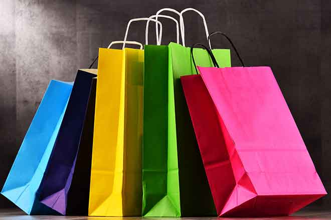 PROMO 64S Miscellaneous - Shopping Bag Sack Colorful - iStock - monticelllo
