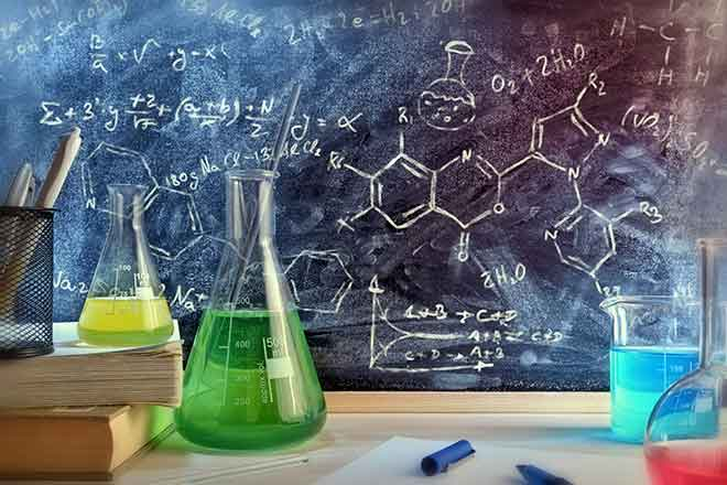PROMO 660 x 440 Science - Beaker Chemical Formula Books - iStock