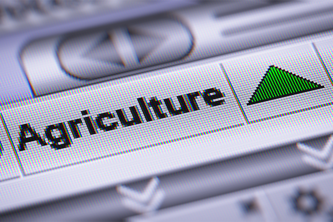 PROMO 660 x 440 Agriculture - Computer Word Green Arrow - iStock