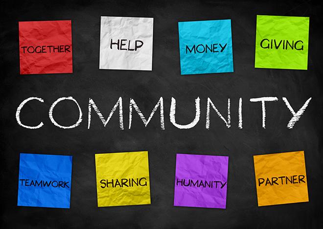 PROMO 660 x 440 Community - Color Paper Words - iStock