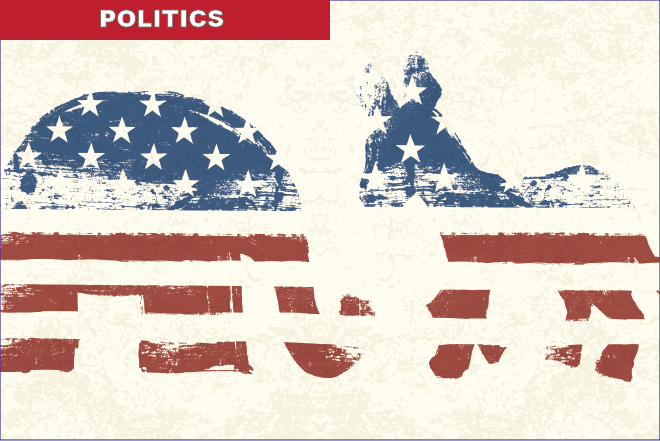 PROMO 660 x 440 Politics - Party Symbols as Flag - iStock