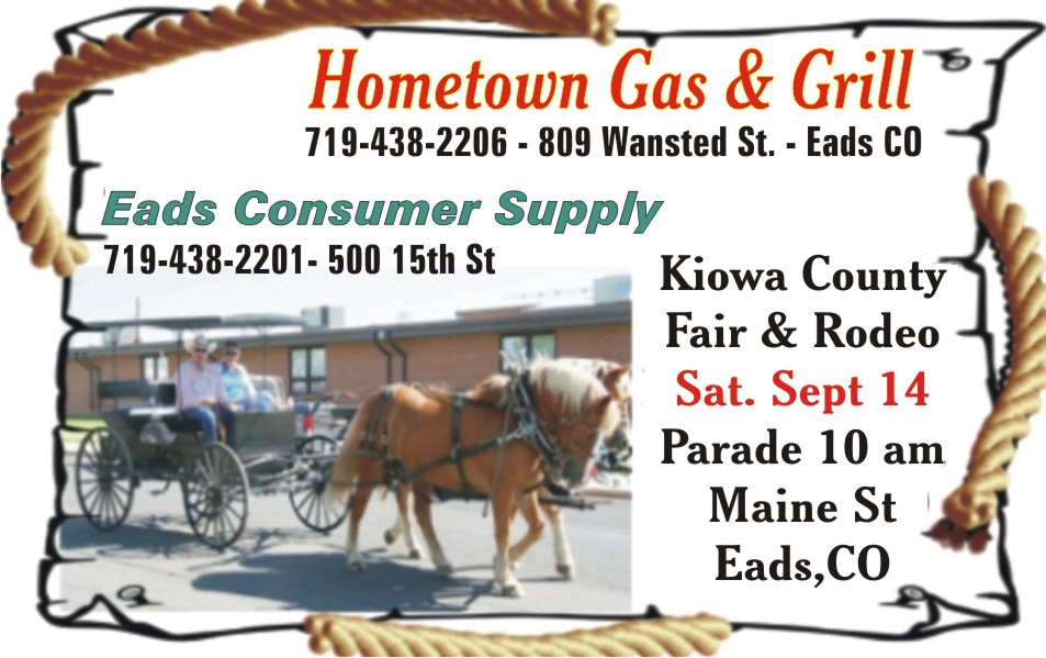 PICT 2019 Kiowa County Fair Sponsor - Hometown Gas and Grill