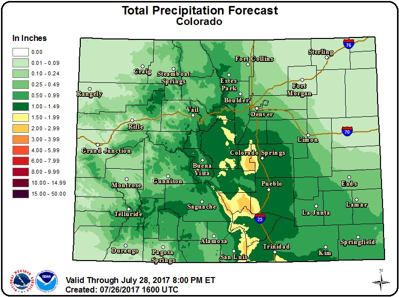 MAP - Precipitation Prediction - July 26, 2017