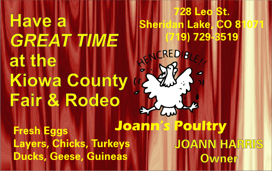 Joanns Poultry 2021 Fair