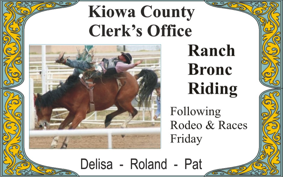 PICT 2019 Kiowa County Fair Sponsor - Kiowa County Clerk