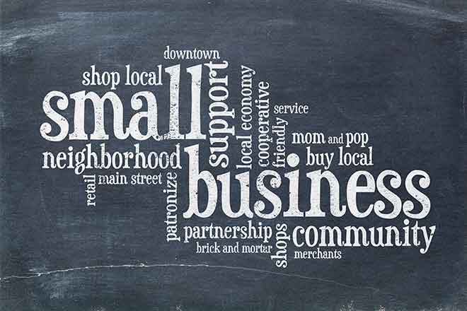 PROMO Business - Small Chamber Commerce Words Community - iStock - marekuliasz