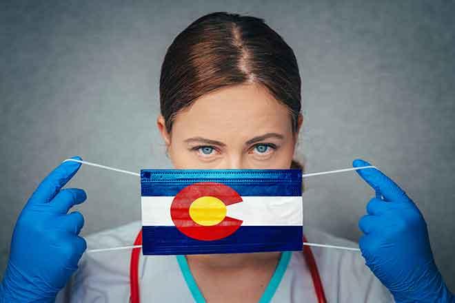 PROMO Health - COVID-19 Coronavirus Mask Colorado Flag Doctor Nurse Gloves - iStock - kovop58