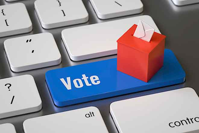 PROMO Politics - Election Vote Ballot Keyboard - iStock - abluecup