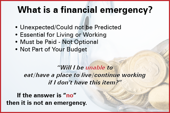 PROMO 660 x 440 Finance - What is an Emergency