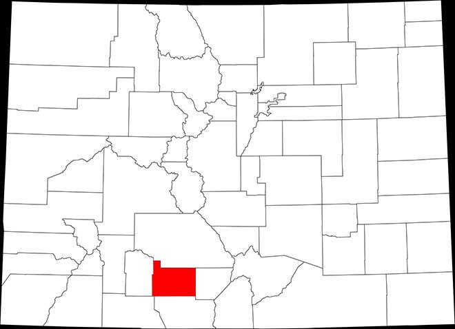 PROMO MAP - Colorado highlighting Rio Grande County - public domain