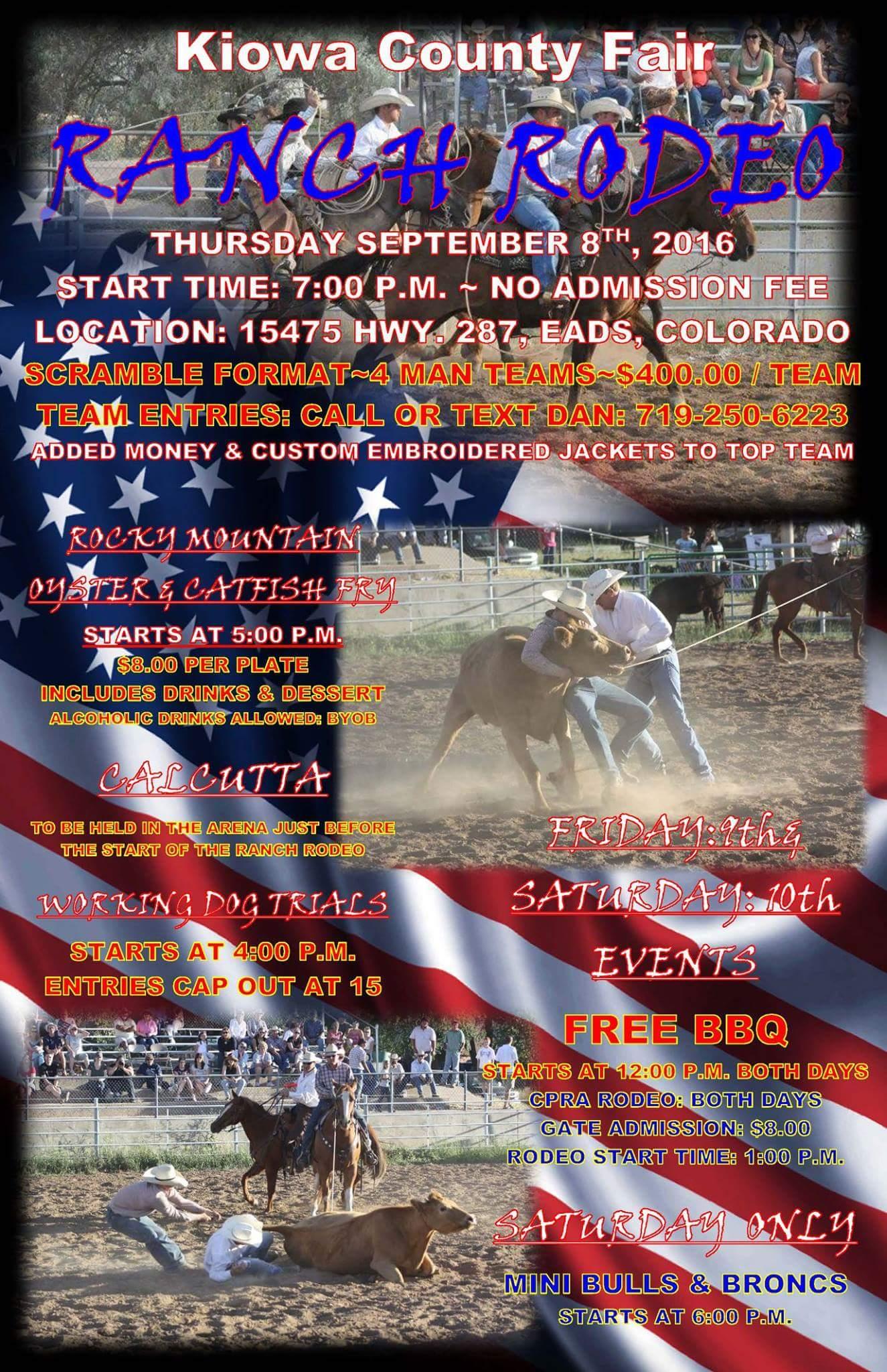 Ranch Rodeo Thursday At The Kiowa County Fair Kiowa