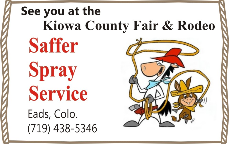 PICT 2019 Kiowa County Fair Sponsor - Saffer Spray Service