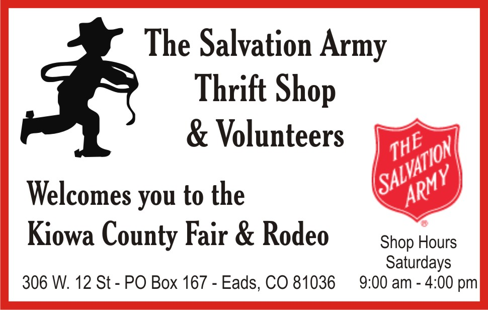 PICT 2019 Kiowa County Fair Sponsor - Salvation Army Thrift Shop