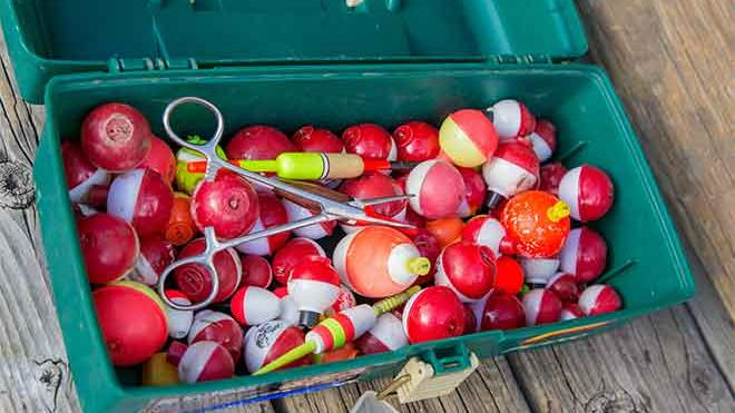 PROMO 64J1 Miscellaneous - Tackle Box Fishing Bobbers - USFWS - Kayt Jonsson - public domain