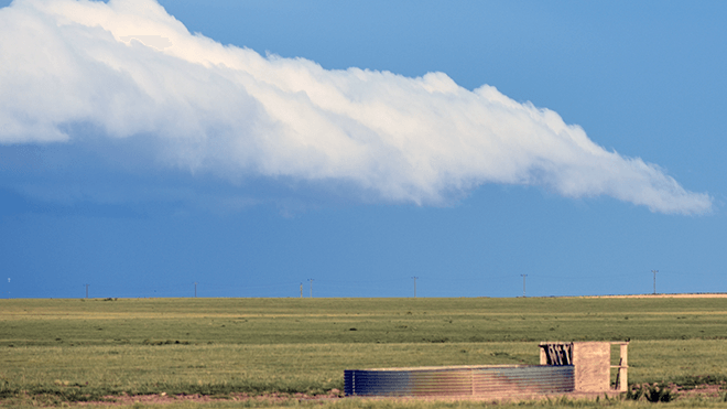 PROMO 64S Agriculture - Stock Tank Field Clouds Prairie Cheyenne County Colorado - Chris Sorensen