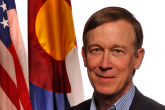 PROMO 660 x 440 Politician - John Hickenlooper Colorado Governor Flags