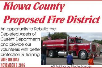 Kiowa County Proposed Fire District