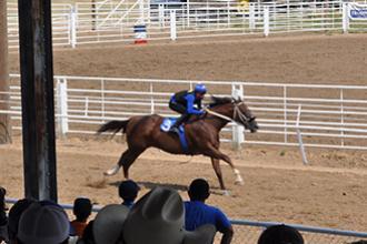 Horse racing during the Kiowa County Fair!