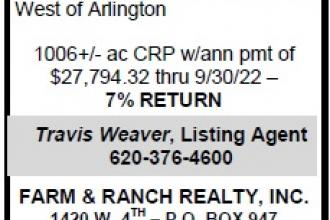 Just Listed - 1,006 Acres CRP in Kiowa County