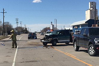 Two-Vehicle Crash Under Investigation