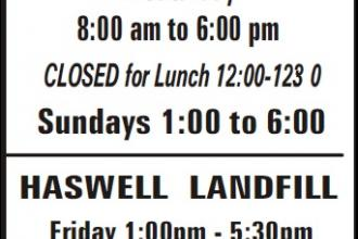 County Landfill Summer Hours (ADV)