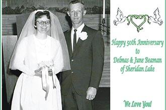 Happy 50th Anniversary to Delmas and June Beaman