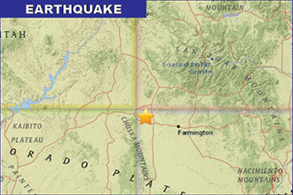 Earthquake Near Four-Corners Area