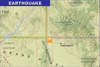 Earthquake Near Four-Corners Area