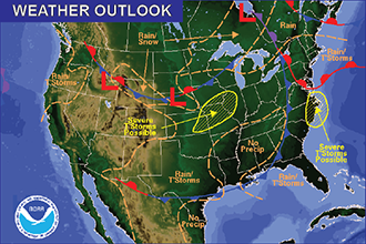 Weekend Weather Outlook - Cooler, Rain Possible