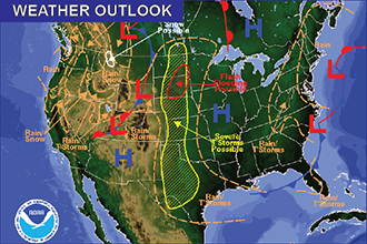 Weather Outlook – the Week Ahead: Severe Storms Sunday Afternoon