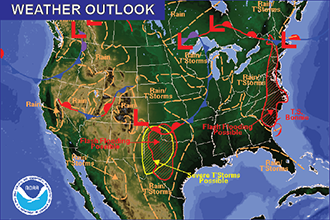 Weather Outlook – the Week Ahead: Chances of Thunderstorms
