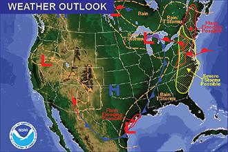 Weather Outlook – The Week Ahead: Thunderstorms Return